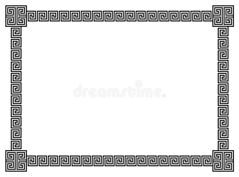 Download Geometrical Scrolls Border stock vector. Illustration of line - 15031253