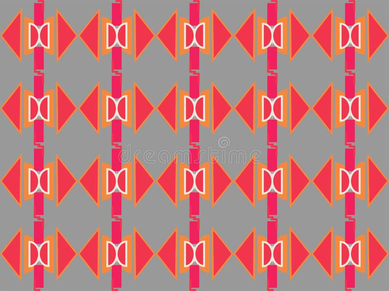 Geometrical shape repetitive local ethnic pattern background. White circle squere combination geometric repetitive background pattern suitable for book cover royalty free illustration