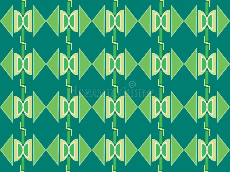 Geometrical shape repetitive traditional ethnic pattern background. Geometrical repetitive ethnic background pattern suitable for book cover, wallpaper stock illustration