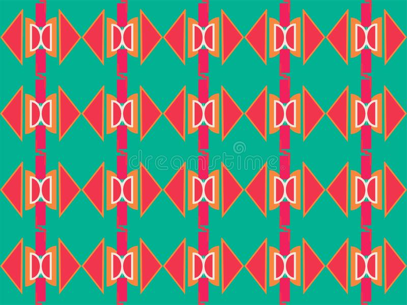 Geometrical shape repetitive traditional ethnic pattern background 33. Geometrical repetitive ethnic background pattern suitable for book cover, wallpaper royalty free illustration