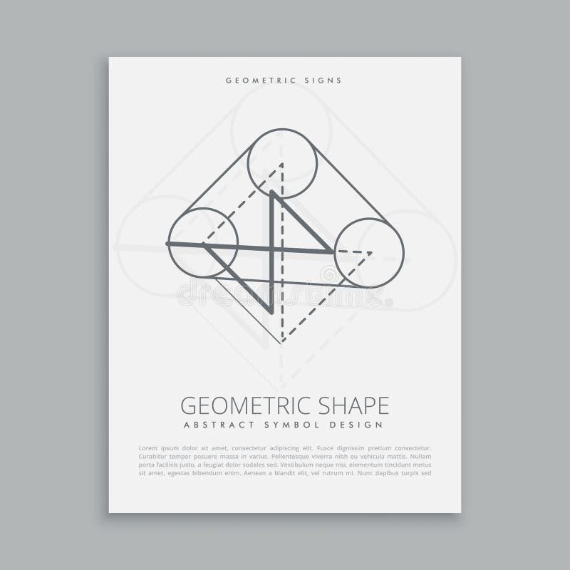 Geometrical shape symbol. Vector illustration stock illustration