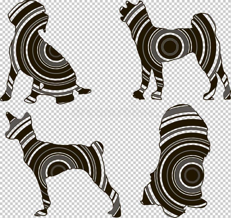Geometrical sylwetka pies royalty ilustracja