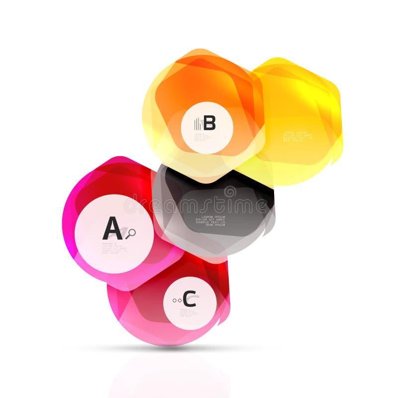 Geometrical sześciokąta aqua elementy zdjęcie stock