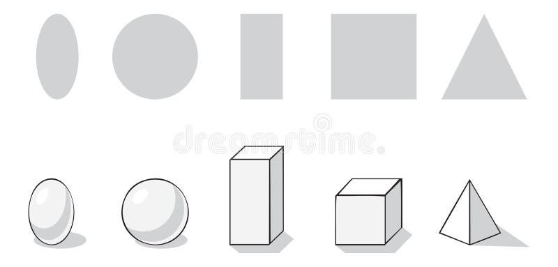 Geometrical wolumetryczny i ilustracji