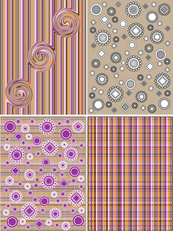 Geometrically and flower pattern royalty free stock image