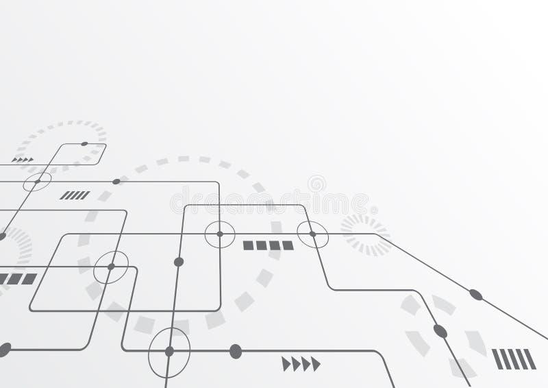 Geometrici astratti collegano le linee ed i punti Fondo semplice del grafico di tecnologia Rete e collegamento di progettazione d fotografia stock