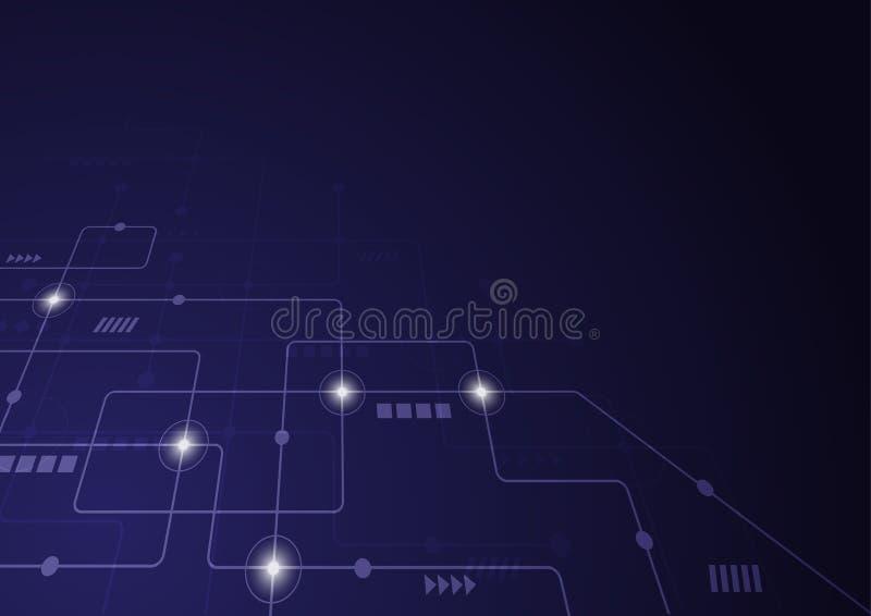 Geometrici astratti collegano le linee ed i punti Fondo semplice del grafico di tecnologia Rete e collegamento di progettazione d fotografie stock libere da diritti