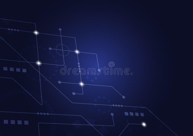 Geometrici astratti collegano le linee ed i punti Fondo semplice del grafico di tecnologia Rete e collegamento di progettazione d immagini stock