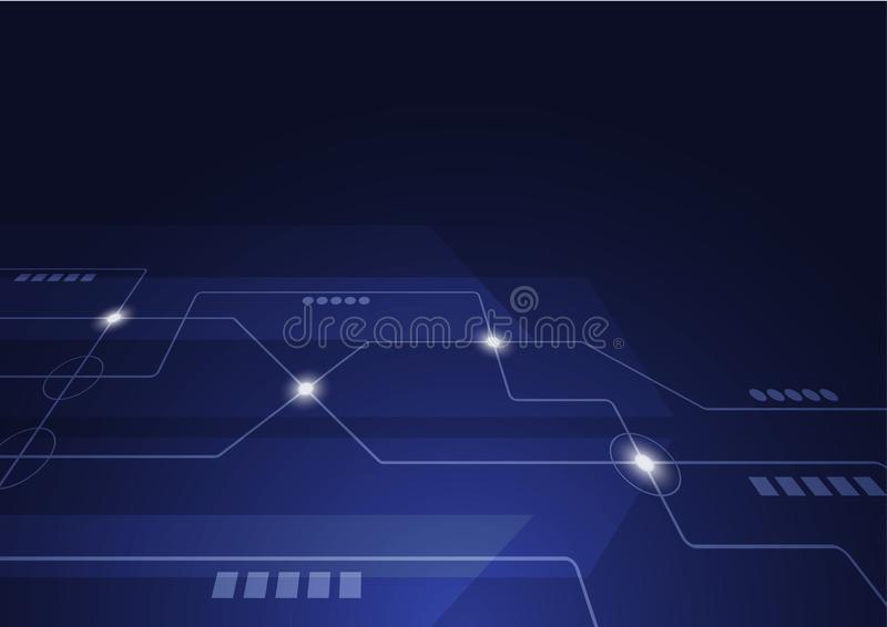 Geometrici astratti collegano le linee ed i punti Fondo semplice del grafico di tecnologia Rete e collegamento di progettazione d fotografia stock libera da diritti