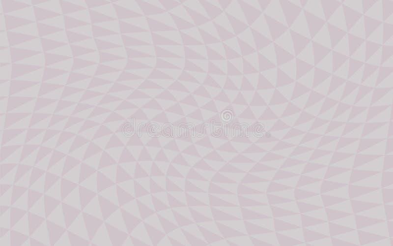 Geometrici leggeri astratti grigi rosa curvi degli angoli riservati vettore dei triangoli ondeggiano il fondo del volume dell'omb royalty illustrazione gratis