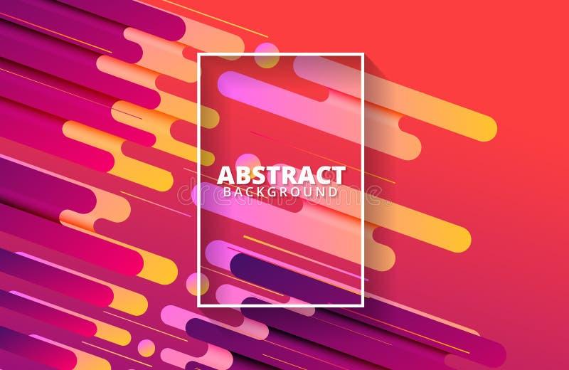 Geometrico astratto Composizione dinamica in forme Modello del fondo royalty illustrazione gratis