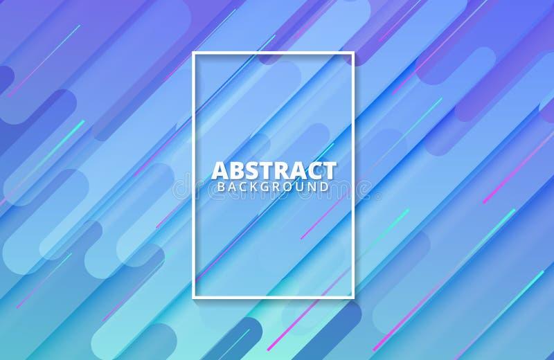 Geometrico astratto Composizione dinamica in forme Modello per l'insegna, web, pagina di atterraggio, copertura, promozione del f illustrazione vettoriale