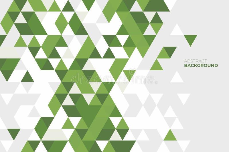 Geometrico astratto Fondo delle forme geometriche Reticolo di mosaico variopinto Retro priorità bassa del triangolo illustrazione vettoriale