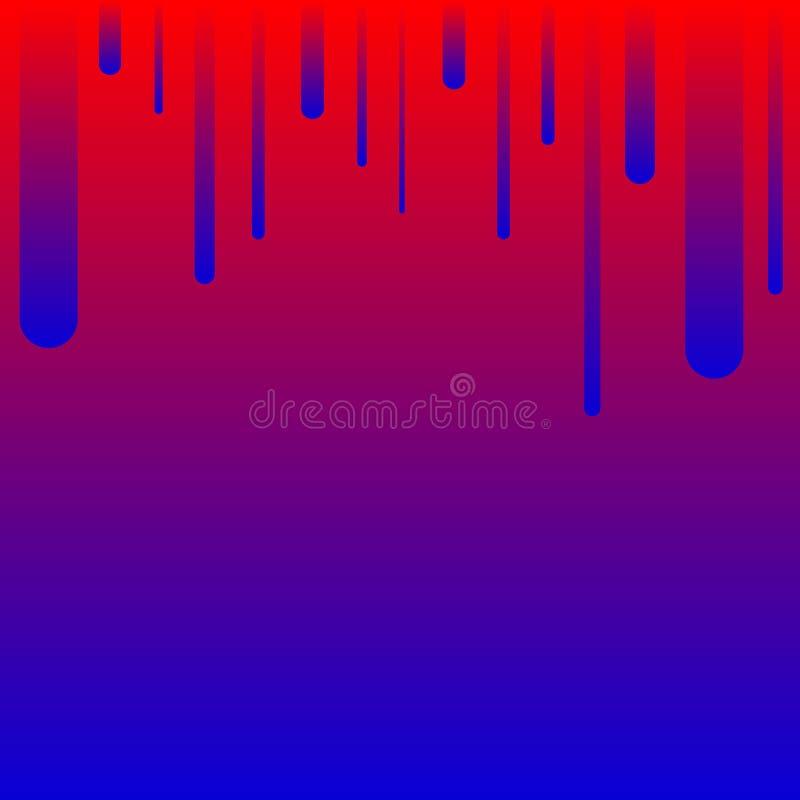 Geometrico astratto Linee blu-rosse parallele sulla cima Bande variopinte Illustrazione royalty illustrazione gratis