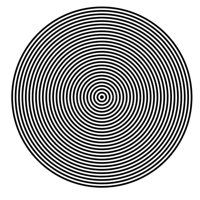 GEOMETRICO REGOLARE DI BASIC Elementi grafici LINEE PARALLELE CON IL CERCHIO illustrazione vettoriale