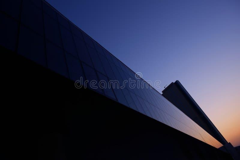 Geometrie des Geschäftszentrums stockfoto