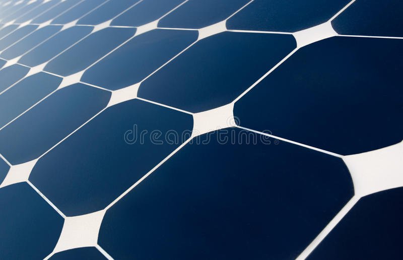 Geometrie des Sonnenkollektors stockfotografie