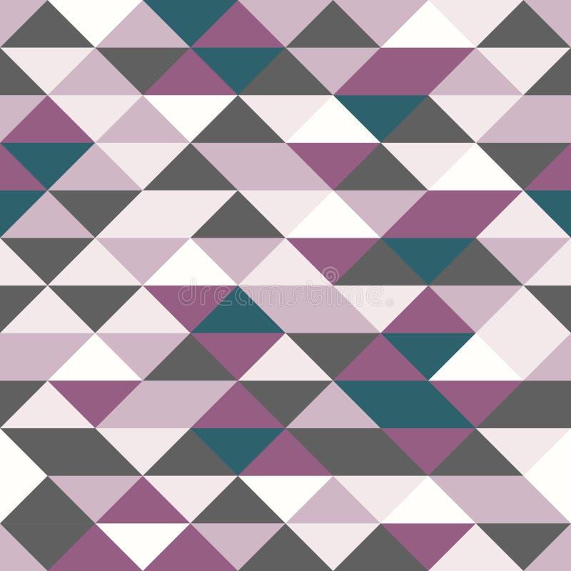 Geometrie-Dreieckmuster des Vektors modernes nahtloses buntes, Farbabstrakter geometrischer Hintergrund, mehrfarbiger Druck des K lizenzfreie abbildung
