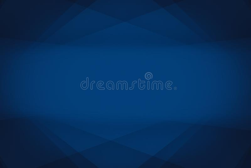 Geometrie-Linie abstrakte Künste, die schattieren und helle Farbe der Steigung blau stock abbildung