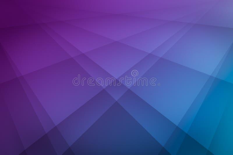 Geometrie-Linie schattierende abstrakte Künste und Blauhintergrund der Steigung helle Farb lizenzfreie abbildung