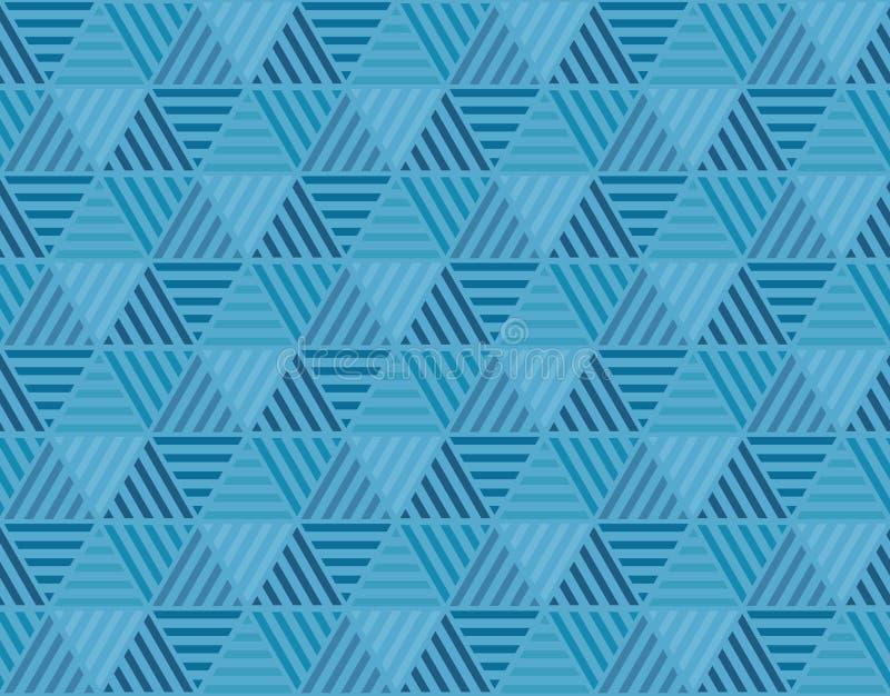 Geometriehexagonmotiv blaues Marinedesig des Farbabstrakten begriffs vektor abbildung