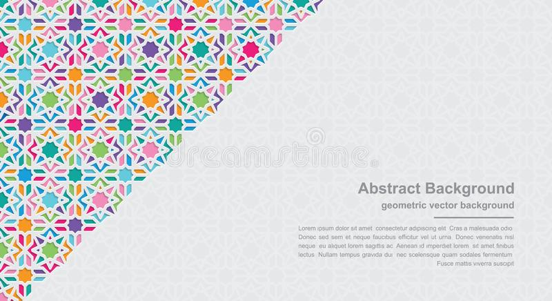 Geometriehintergründe mit modernen bunten Kombinationen mit Leerstellen für Ihren Text Hintergrund des Vektor Eps10 stock abbildung
