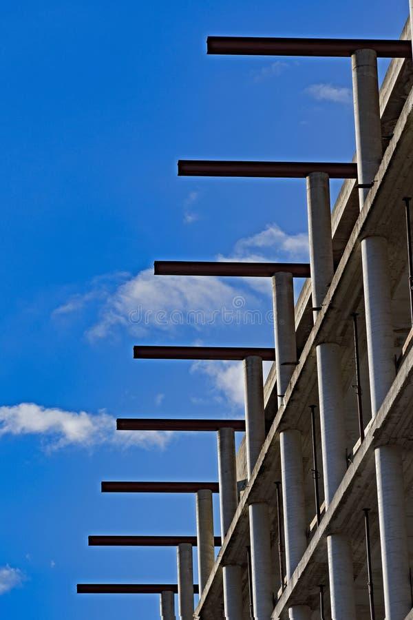 Geometrier inställda i den blåa himlen fotografering för bildbyråer