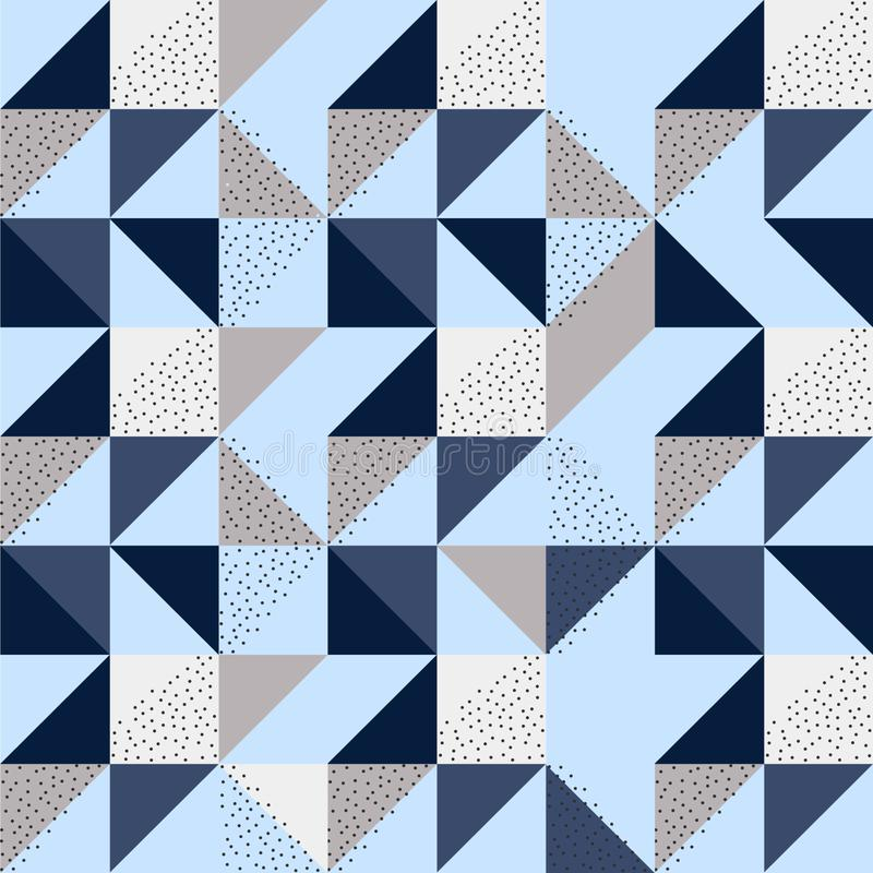 Geometrievektormuster Ethnische nahtlose Verzierung lizenzfreie abbildung