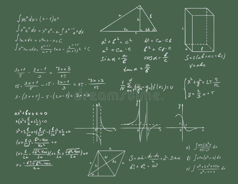 geometrii zielony matematyk wektor royalty ilustracja