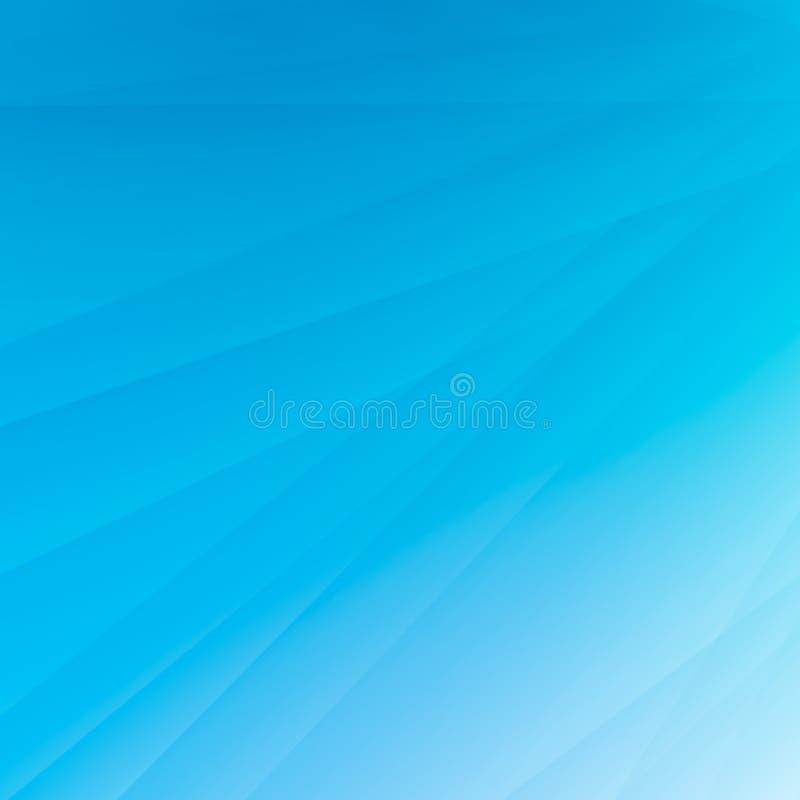 Geometrilinje abstrakta konster som skuggar, och bakgrund för blått för ljus färg för lutning royaltyfri illustrationer