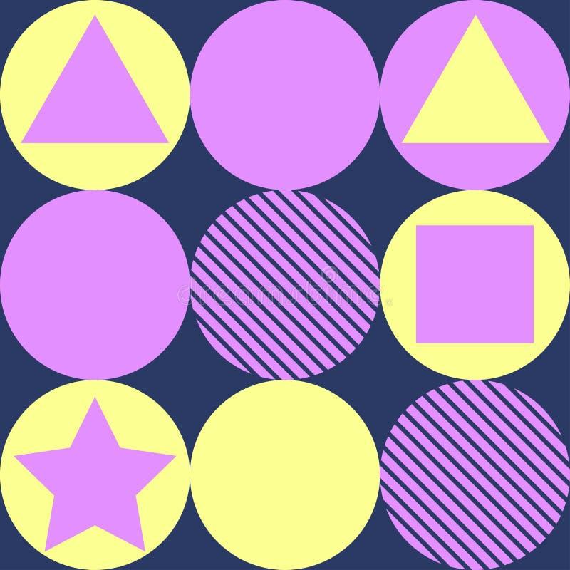 Geometrimodellbakgrund arkivbild