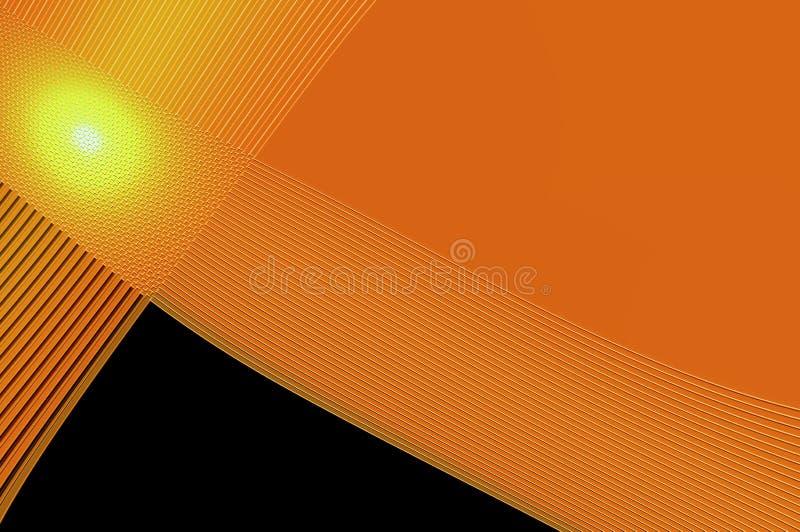 Geometrinåd - i apelsin. royaltyfri illustrationer