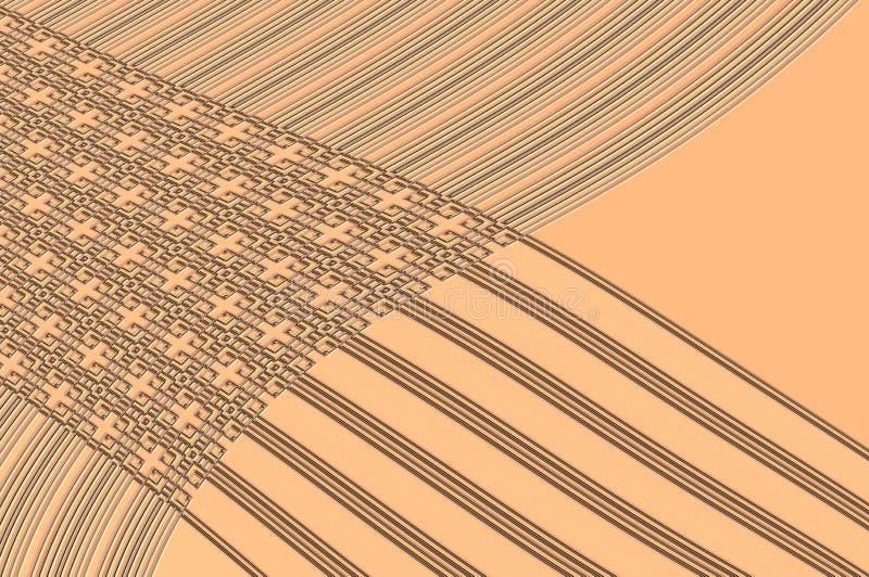 Geometrinåd - i beiga. royaltyfri fotografi