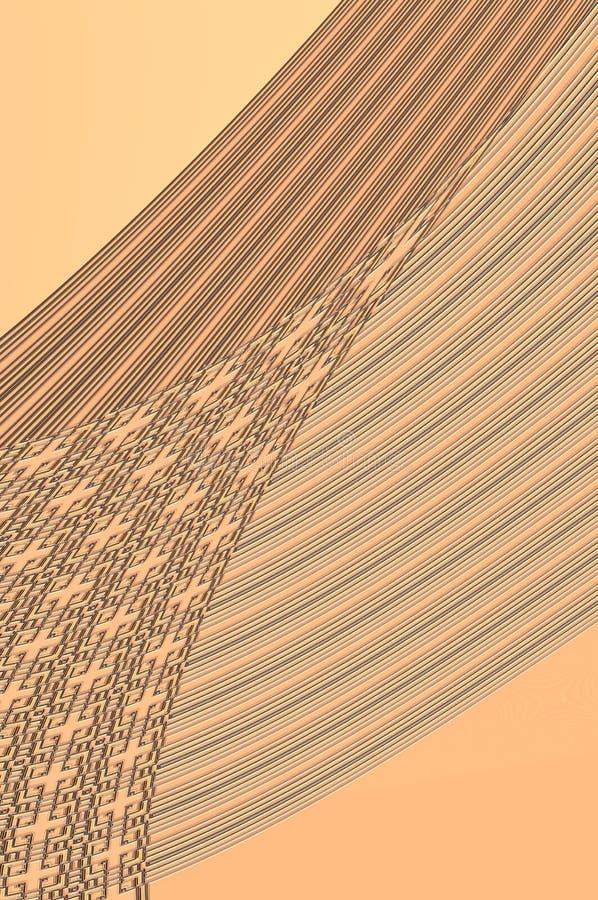 Geometrinåd - i beiga. arkivfoton