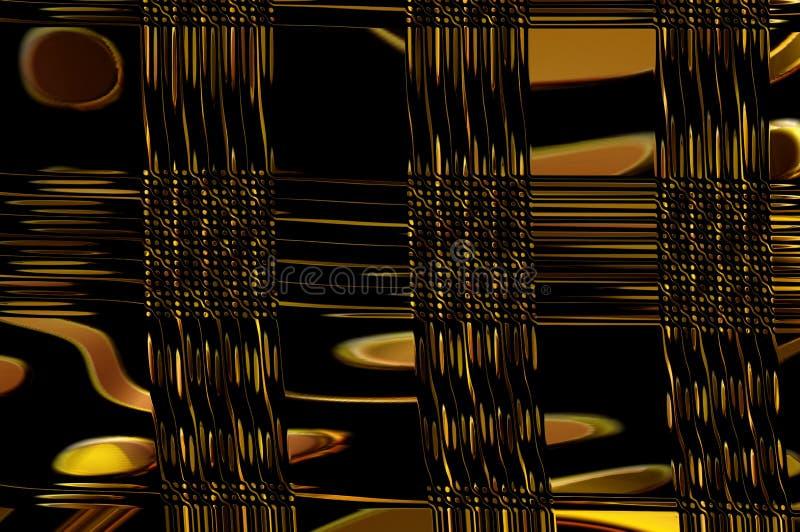Geometrinåd - i guld. royaltyfria bilder