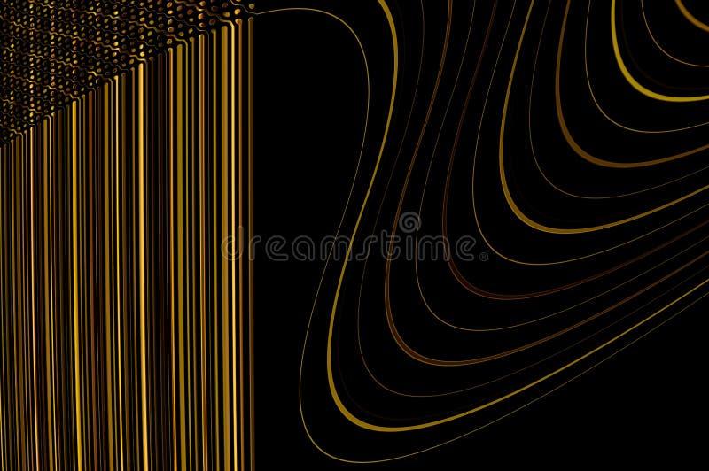 Geometrinåd - i guld. fotografering för bildbyråer