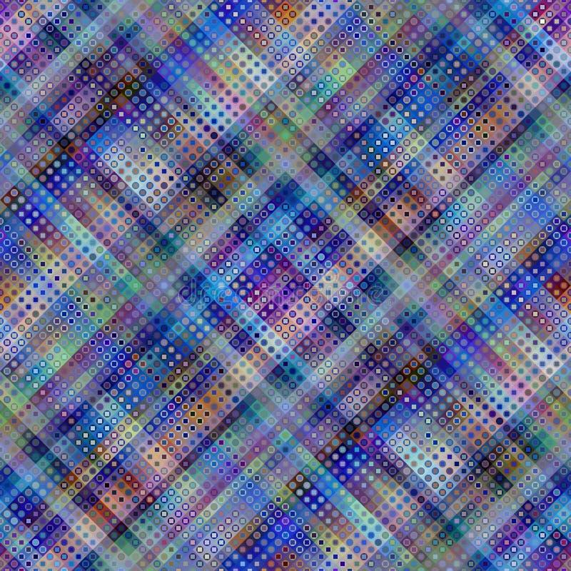 Geometrisch abstract diagonaal plaidpatroon in de lage polystijl van de pixelkunst vector illustratie