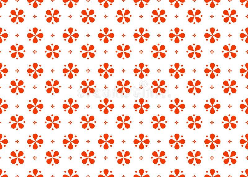 Geometrisch abstract naadloos patroon van imitatie rode kleur stock illustratie