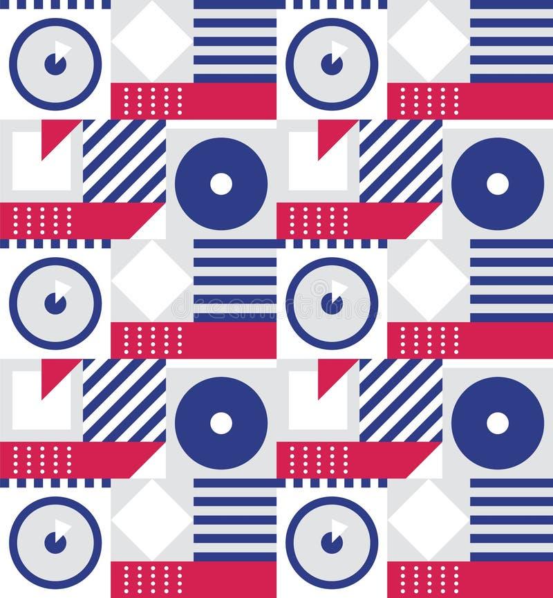 Geometrisch abstract patroon royalty-vrije illustratie