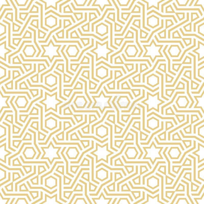 Geometrisch Arabesque-Patroon stock illustratie