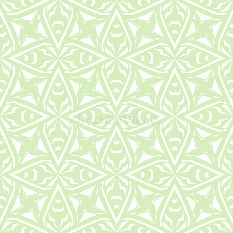Geometrisch art deco uitstekend patroon in wit stock illustratie