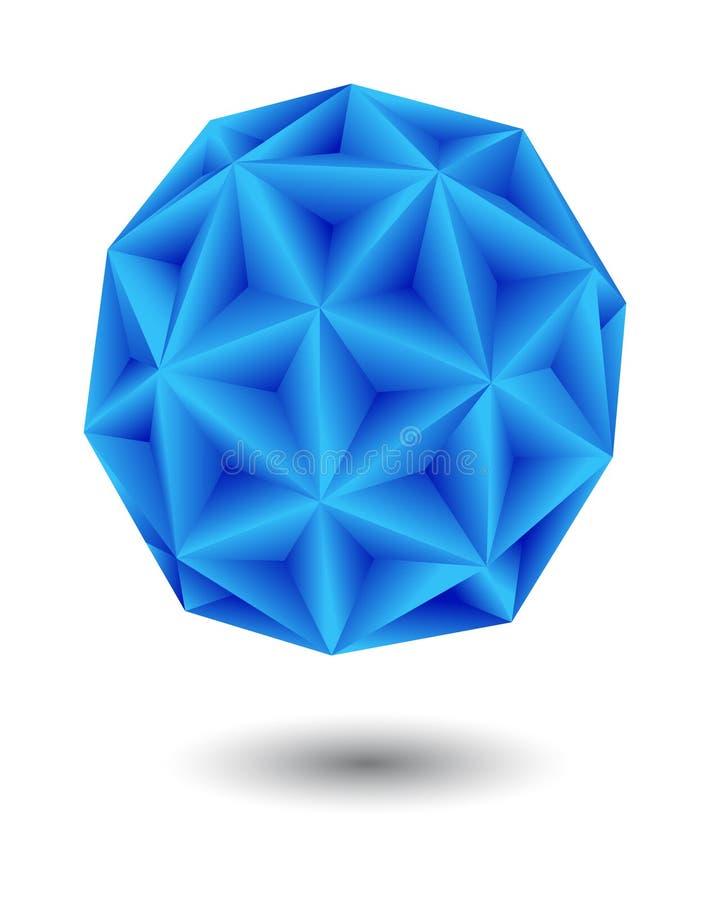 Geometrisch blauw royalty-vrije illustratie