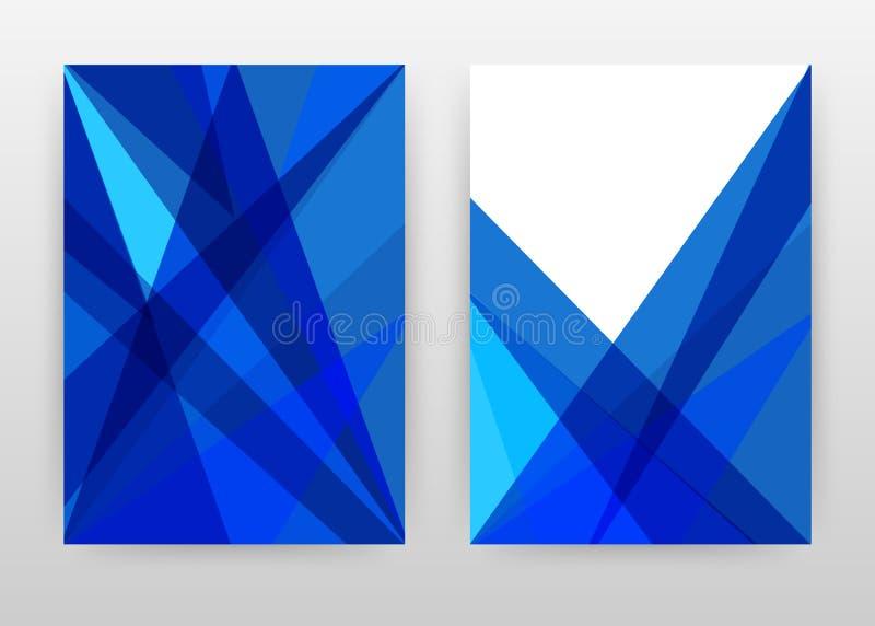 Geometrisch blauw driehoeks bedrijfsontwerp voor jaarverslag, brochure, vlieger, affiche Meetkunde blauwe vectorillustratie als a stock illustratie