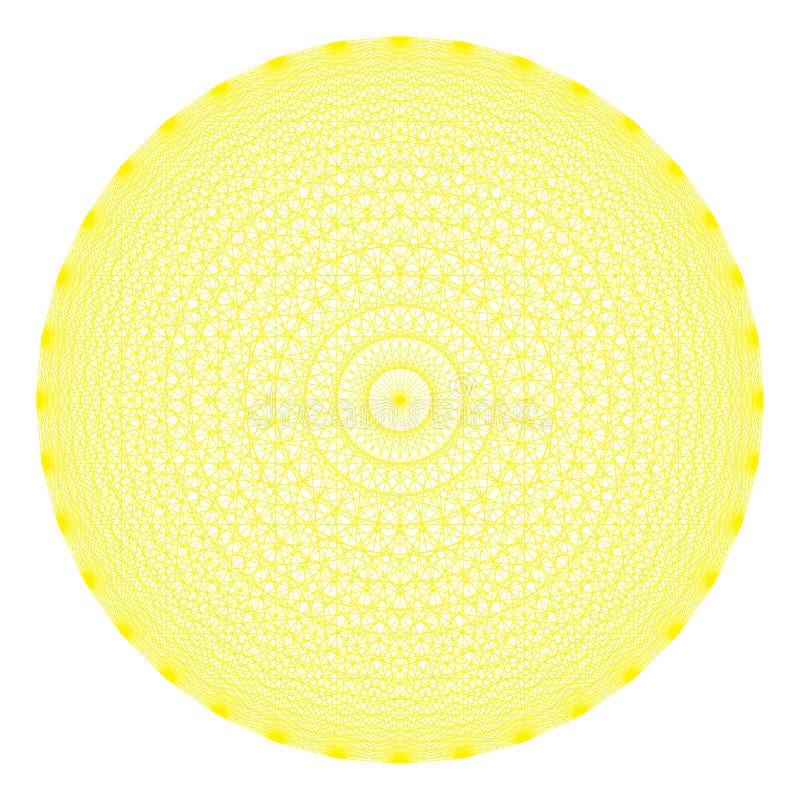 Geometrisch cijfer van 36 hoeken, guilloche vector illustratie