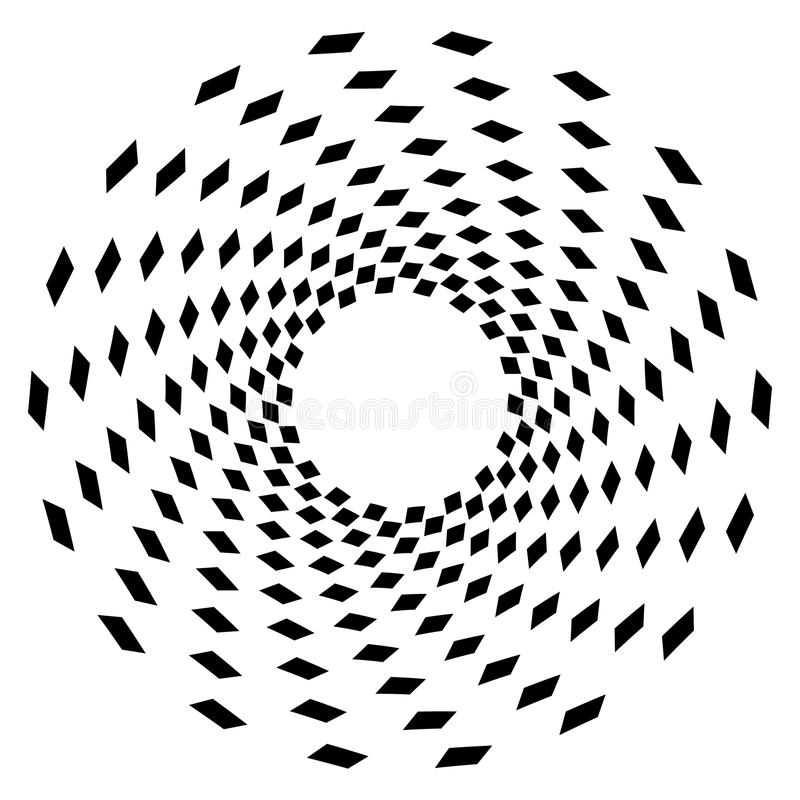 Geometrisch cirkelelement Cirkel grafisch met geometrische lijnen royalty-vrije illustratie