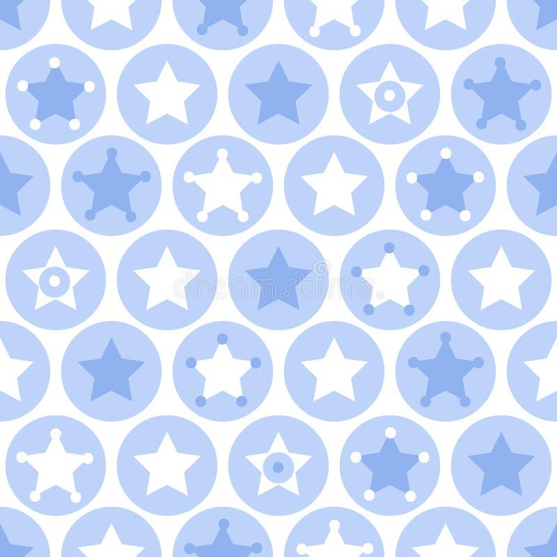 Geometrisch de cirkels en de sterren naadloos patroon van jongensjonge geitjes op wit stock illustratie