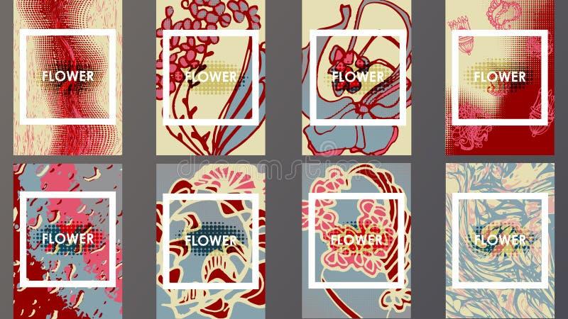 Geometrisch de Overgangenontwerp van malplaatjebrochures stock afbeelding