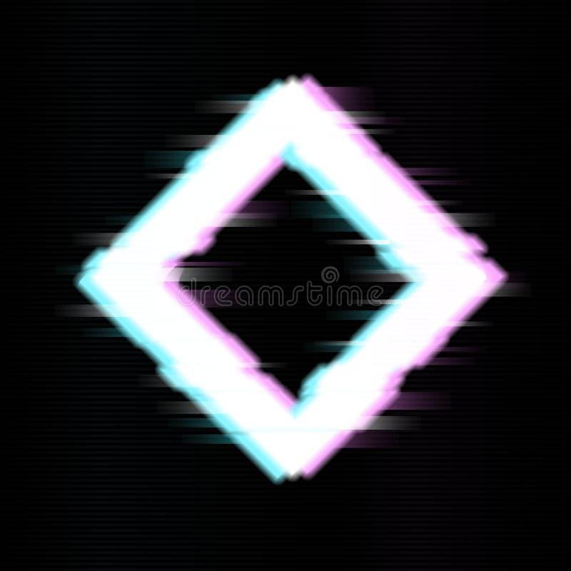 Geometrisch detail in glitch stijl Abstract minimaal malplaatjeontwerp voor het brandmerken Duif als symbool van liefde, pease royalty-vrije illustratie