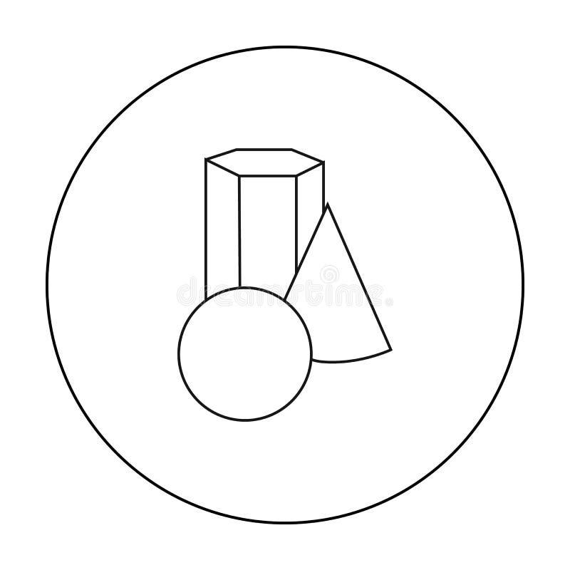 Geometrisch die stillevenpictogram in overzichtsstijl op witte achtergrond wordt geïsoleerd Kunstenaar en tekenings de vector van royalty-vrije illustratie