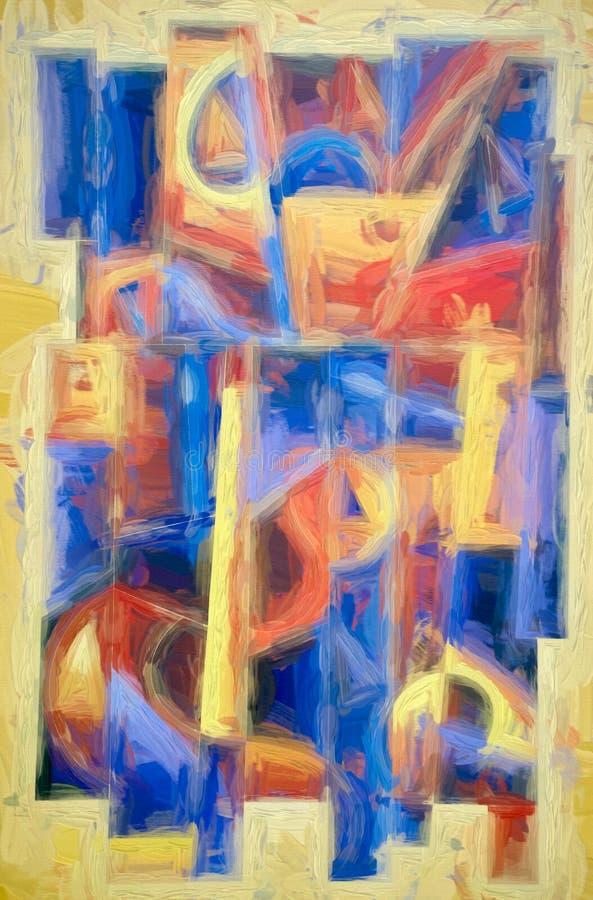 Geometrisch Digitaal Art Painting 2 stock illustratie